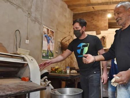 Alejo Sarna continúa acompañando a los emprendedores locales