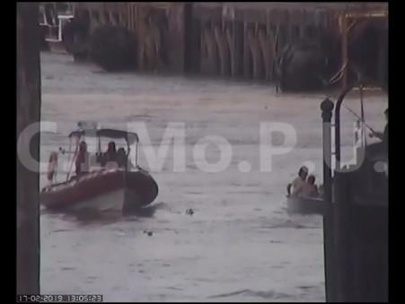 Tras la intervención del CIMoPU, dos sujetos son auxiliados en el río