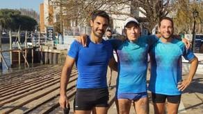 """REMO: Joel Romero, """"Juani"""" Paredes y Tobías Viera salieron 2° en la regata ''Vuelta Isla Victoria''"""