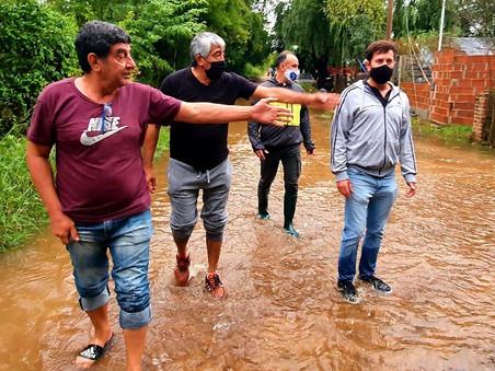 """Alejo Sarna: """"La ciudad se sigue inundando por falta de obras pluviales"""""""