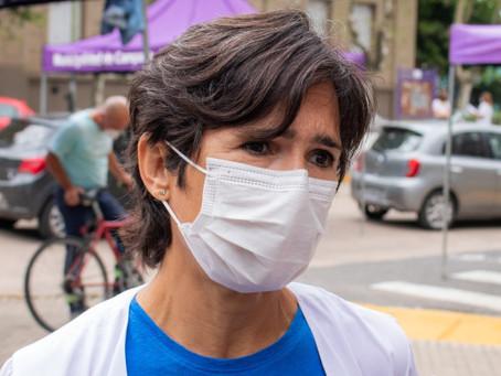 Cecilia Acciardi volvió a reclamar a Provincia que termine de vacunar al personal de salud
