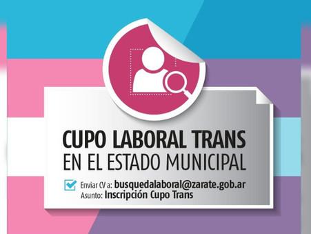 El Municipio de Zárate avanza con la implementación del cupo laboral Travesti Trans