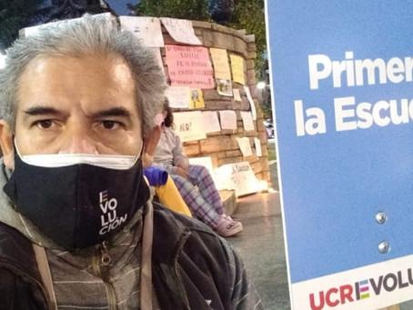 Pedro Torres y la U.C.R. Evolución siguen reclamando por la apertura de las escuelas