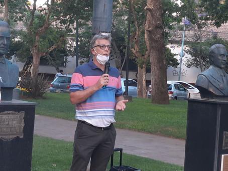 Axel Cantlon y Carlos Gómez participaron del acto del día de la democracia