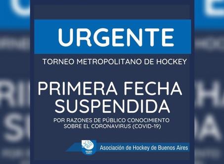 Hockey: La A.H.B.A. suspendió el comienzo del torneo como medida preventiva por el Coronavirus