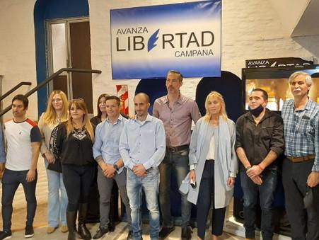 ''Avanza Campana'' presentó oficialmente su lista de precandidatos a concejales