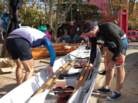 Remo de travesía: Cuatro campanenses correrán mañana la ''Copa Edward'' del Tigre Boat Club