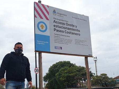 ''Si no fuera por el Gobierno Nacional y el Provincial, Abella no inauguraría ni una obra''