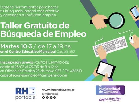 Continúa la inscripción para el taller gratuito de búsqueda de empleo