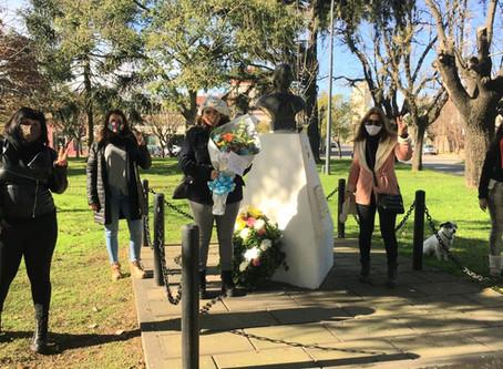 """Las """"Mujeres Peronistas"""" de Campana homenajearon a Evita"""