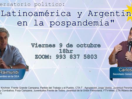 Se realiza esta tarde un conversatorio político entre Carlos Raimundi y el Toro Ortega