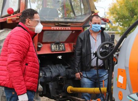 Zárate compró equipamiento para intensificar la desinfección en la vía pública