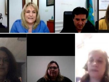 Buzzini, Gotelli y Sala participaron en un Zoom de mujeres radicales sobre política y gestión