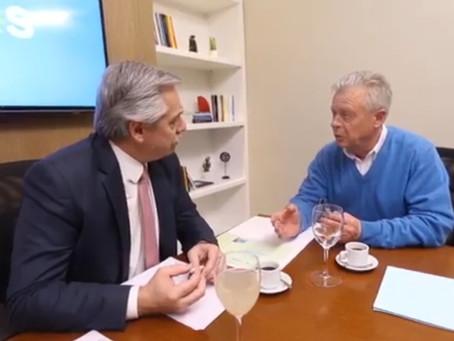Rubén Romano se reunió con Alberto Fernández