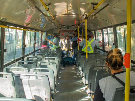 Controlan los protocolos de Covid-19 en el transporte público