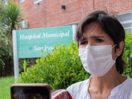 Acciardi afirmó que el Hospital se encuentra vacunando con normalidad, pero que ya no tienen vacunas