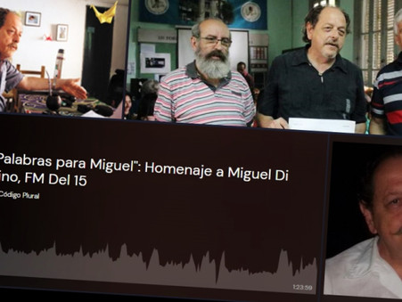 """Reviví """"Palabras para Miguel"""", el homenaje de la FM del 15 a Miguel Di Fino"""