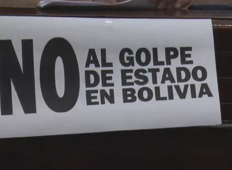 El HCD repudió el Golpe de Estado en Bolivia