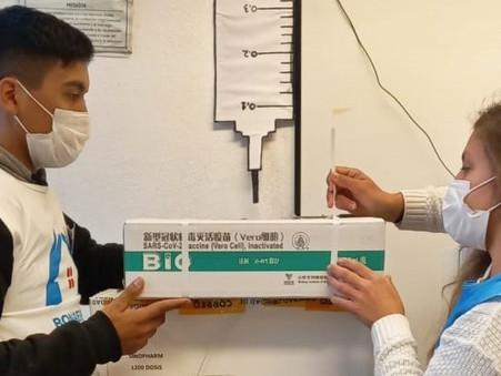 Llegaron 5900 dosis de Sinopharm