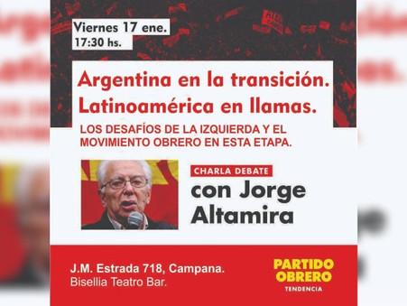 Jorge Altamira estará en Campana