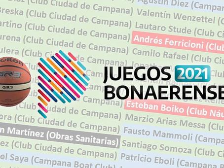 BASQUET: Campana ya tiene sus seleccionados para competir en los Bonaerenses 2021