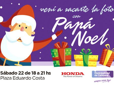 Papá Noel visitará la plaza Eduardo Costa