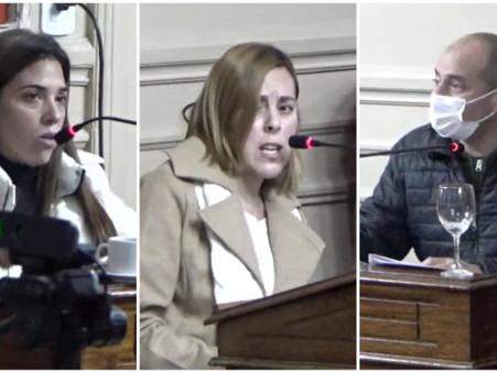 El Frente de Todos dividió dos veces su voto en la sesión del H.C.D. de ayer