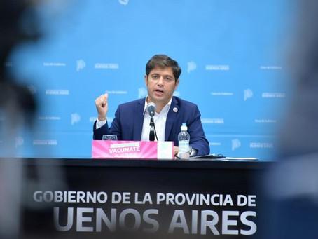 Kicillof presentó las nuevas medidas ante la segunda ola de coronavirus en la Provincia