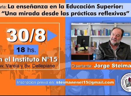 Jorge Steiman se presenta en el Instituto 15
