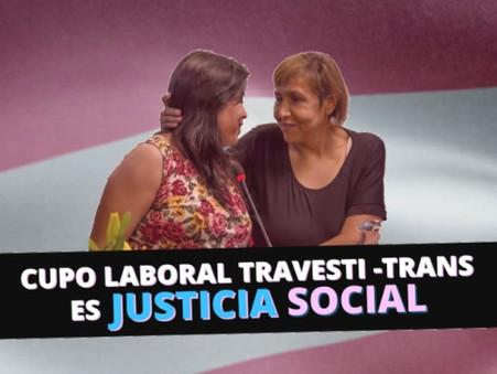 Es ley el Cupo Laboral Travesti-Trans (por Soledad Alonso)