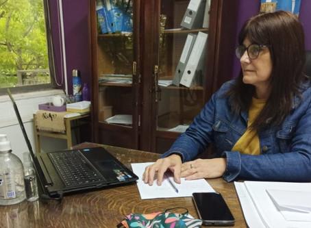 El Municipio mantuvo una reunión virtual con la directora de Cultura y Educación bonaerense
