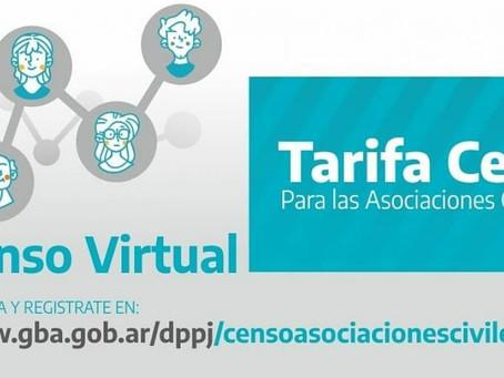 Recuerdan que rige la aplicación de Tarifa Cero para las asociaciones civiles de la provincia