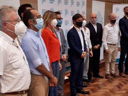 Los concejales Romano y Colella participaron del anuncio de obras del Gobernador Kicillof
