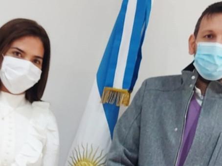 Soledad Calle se reunió con el presidente del Banco Provincia