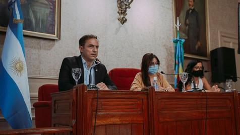Con un fuerte discurso político, Abella abrió la sesiones del HCD