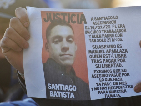 Marcharon por el crimen de Santiago Batista