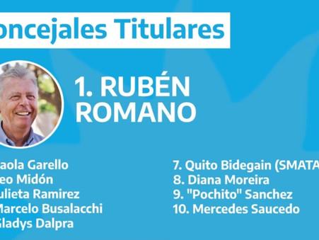 El sector de Rubén Romano del Frente de Todos presentó su lista de precandidatos a concejales
