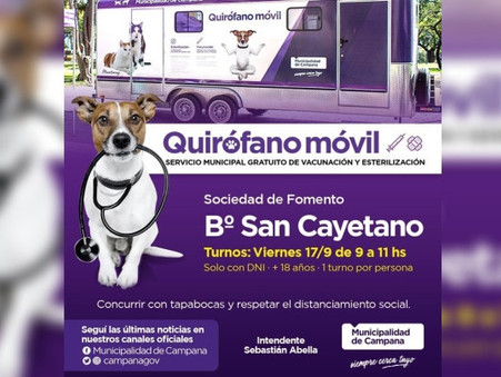 San Cayetano: se entregarán turnos para las castraciones gratuitas