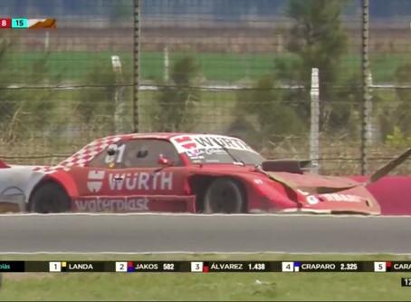 TC Pista: Abella no completó la segunda final en San Nicolás, y quedó 23°
