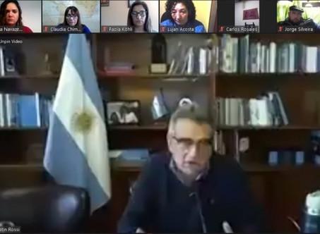Agustín Rossi hace pié en Campana con Carla Navazzotti como referente local de ''La Corriente''