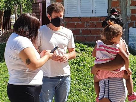 Alejo Sarna convocó a anotarse para recibir la vacuna contra el Covid a quienes aún no lo hicieron