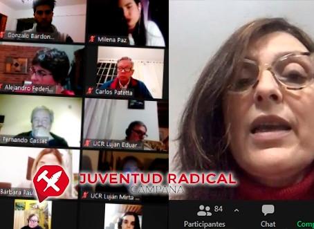 La juventud Radical de Campana se reunió con concejales de la primera sección por zoom