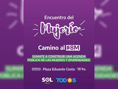 """Encuentro del """"mujerío"""" en la previa del #8M"""