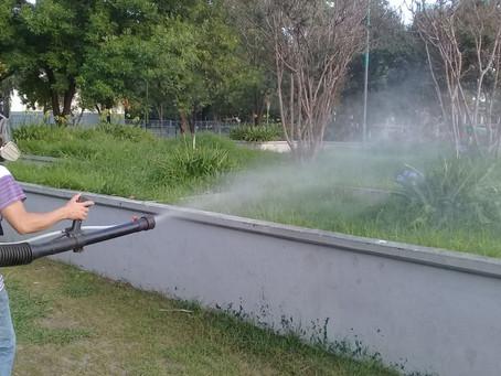 Ante la proliferación de mosquitos, fumigaron espacios públicos