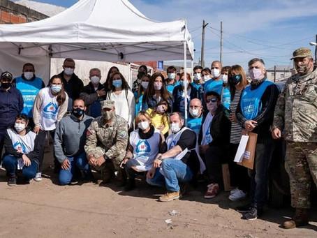 La Operación humanitaria Gral. Manuel Belgrano llegó al B° Dignidad