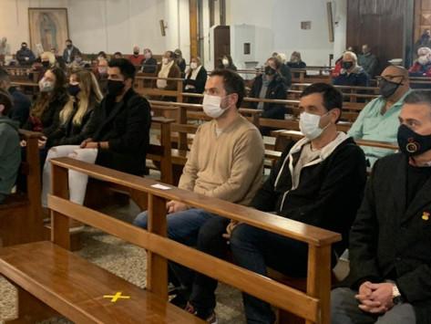 El Intendente acompañó la misa a la Patrona de la ciudad, Santa Florentina