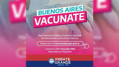Impulsan a los vecinos a inscribirse en el registro de vacunación contra el Covid-19