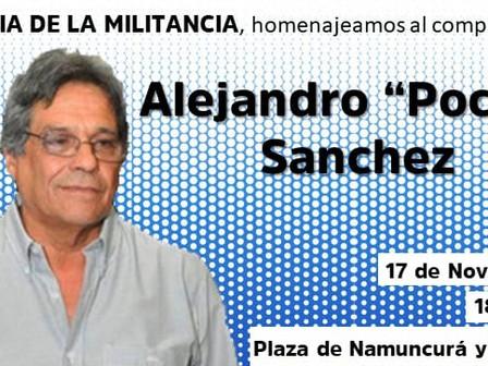 Realizarán un homenaje a Pocho Sánchez en el día del militante