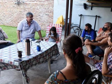 Alonso y Ortega en el B° Sarmiento
