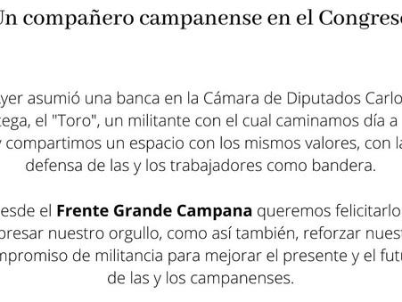 El Frente Grande de Campana respaldó a Carlos Ortega